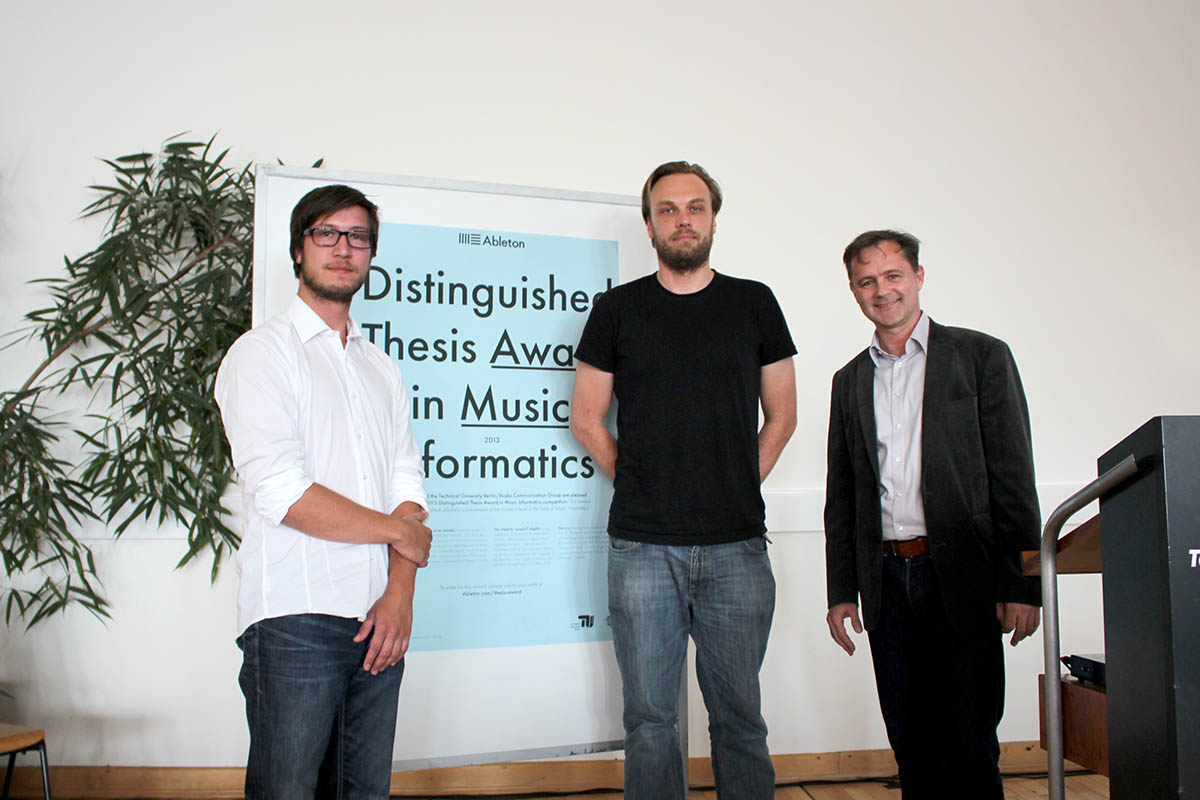 Ableton Thesis Award Verleihung